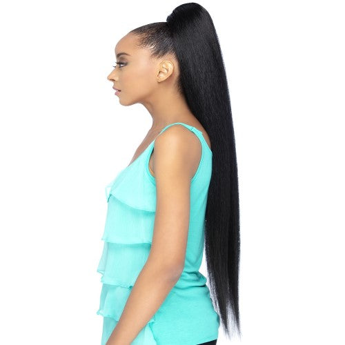 HPB Scarlett Pocket Bun Ponytail - Human Hair Blend Drawstring Hair Extension By Vivica A. Fox - Waba Hair and Beauty Supply