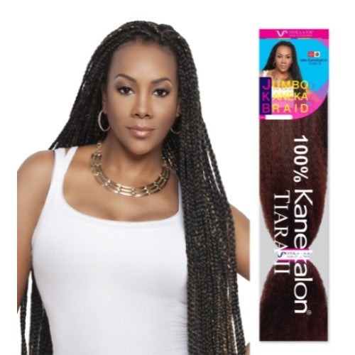 "45"" Jumbo Braid 100% Kanekalon Fiber JKB-V Crochet Braiding Hair By Vivica A. Fox - Waba Hair and Beauty Supply"