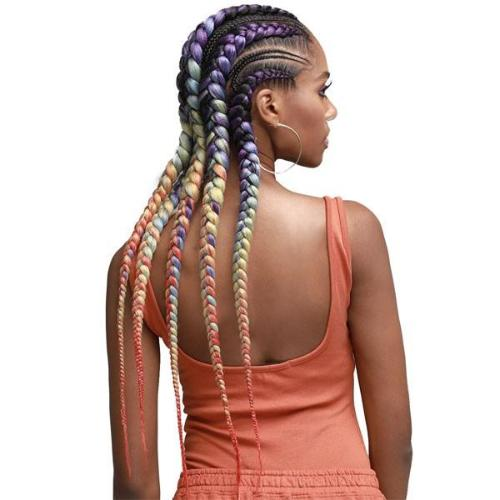 "Just Braid 54"" Pre-Feathered Braid Synthetic Crochet Hair By Bobbi Boss - Waba Hair and Beauty Supply"