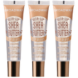 [3 PC] SET of Shea Butter Broadway Vita-Lip Clear Lip Gloss 0.47oz/14ml by Kiss