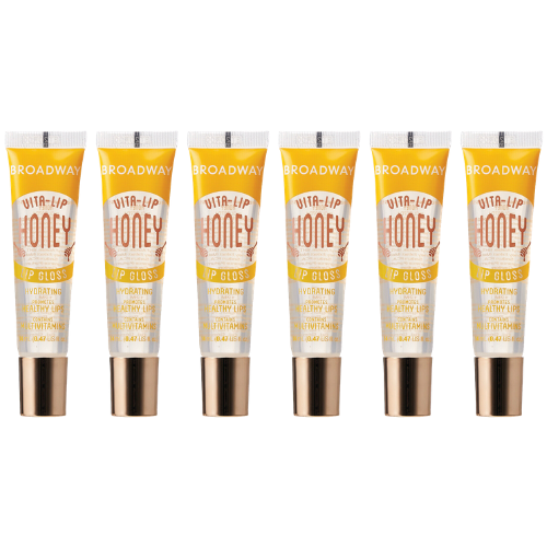 [6 PIECE] SET of Honey Broadway Vita-Lip Clear Lip Gloss 0.47oz/14ml by Kiss