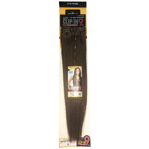 9 Piece LUV Clip-In 100% Remi Human Hair by Eve Hair - Waba Hair and Beauty Supply