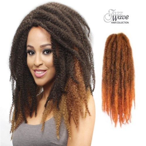 Afro Kinky Marley Braid Synthetic Twist Hair By Jazz Wave Waba