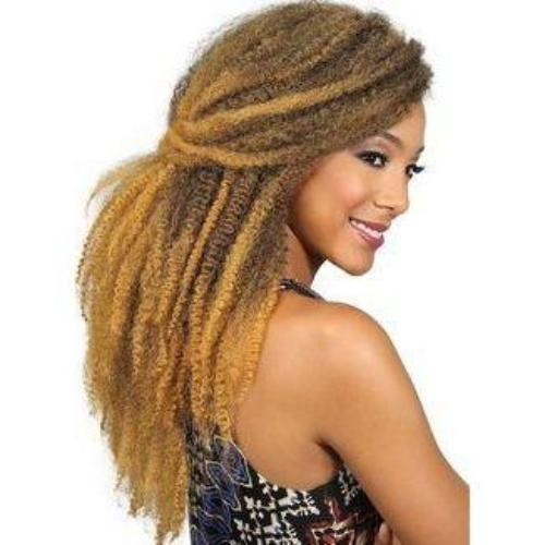 Afro Kinky Marley Braid Synthetic Twist Hair By Jazz Wave - Waba Hair and Beauty Supply