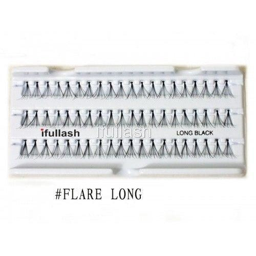Flare Large Ifullash False Eyelashes Extensions Individual Lashes (6 Pairs) - Waba Hair and Beauty Supply