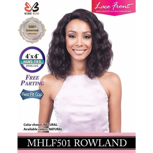 "Rowland MHLF501 - 4""X 4"" Swiss Part Brazilian Lace Front Wig 100% Human Hair Wig By Bobbi Boss - Waba Hair and Beauty Supply"