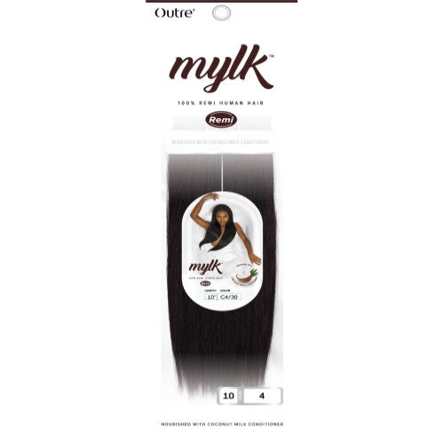 "Mylk 100% Remi Human Weave Hair Extensions 10""- 18"" by Outre - Waba Hair and Beauty Supply"