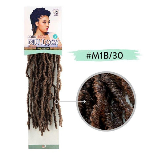 "Nu Locs 18"" Synthetic Crochet Braid Hair By Bobbi Boss (6 packs) - Waba Hair and Beauty Supply"