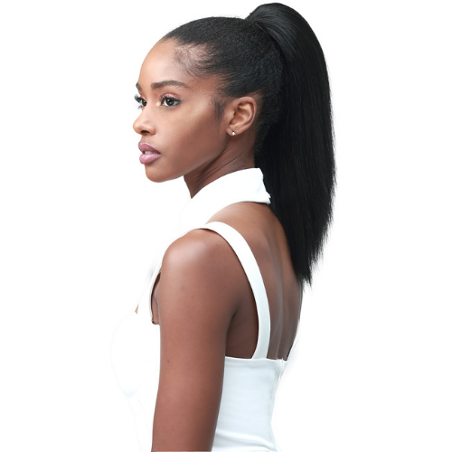 "14"" Miss Origin TressUp Yaky Straight Designer Mix Human Hair Blend Ponytail by Bobbi Boss"