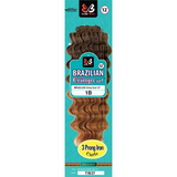 "12"" Brazilian Crimp Curl Crochet Braiding Hair by Bobbi Boss"