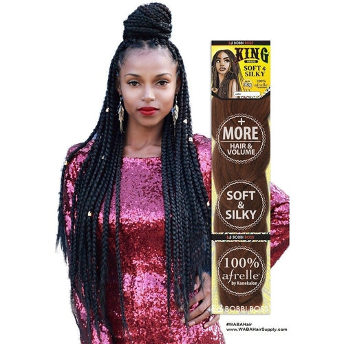 King Braid Afrelle 100% Kanekalon Braiding Hair By Bobbi Boss - Waba Hair and Beauty Supply