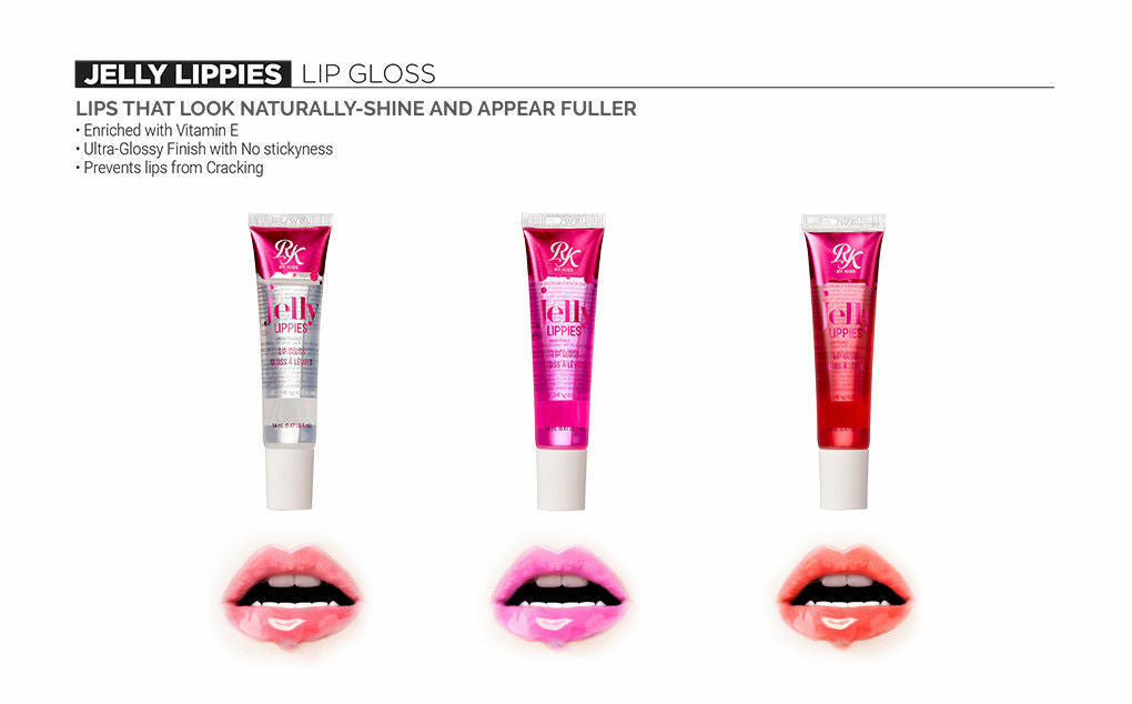 [ 3 & 6 PACK ] Jelly Lippies Lip Gloss 14mL /0.47 fl.oz. (RMLG02-Mermaid) by Ruby Kiss - Waba Hair and Beauty Supply