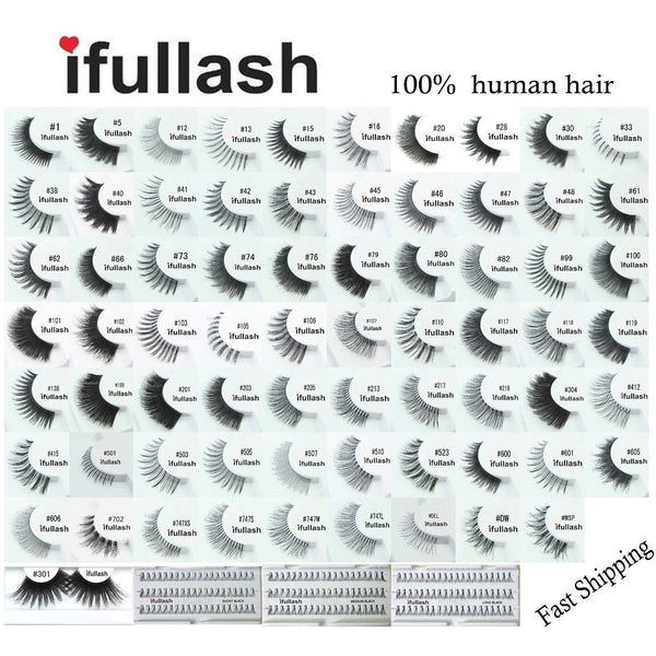 Ifullash False Eyelashes Extensions Lashes (6 Pairs) - Waba Hair and Beauty Supply