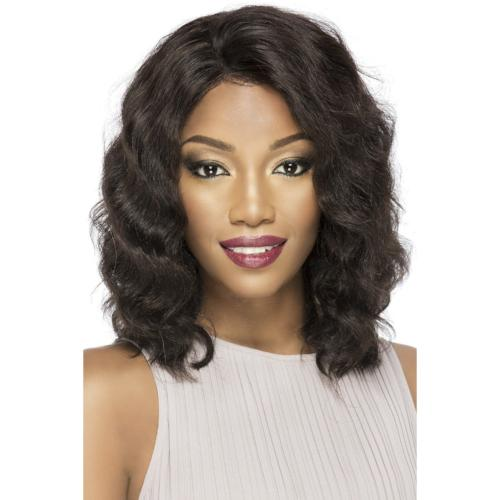 "Shirley  14"" Lace Front Layered Body Wave Wig 100% Remi Brazilian Human Hair By Vivica A. Fox - Waba Hair and Beauty Supply"