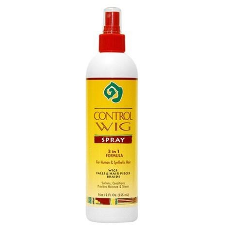 African Essence 3 In 1 Control Wig Spray for Human & Synthetic Hair - 12 oz - Waba Hair and Beauty Supply