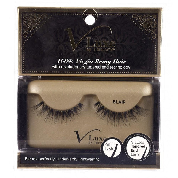 V-LUXE I ENVY - VLE02 BLAIR - 100% VIRGIN REMY TAPERED END STRIP EYELASHES BY KISS