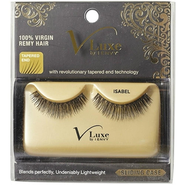 V-LUXE I ENVY - VLE09 ISABEL - 100% VIRGIN REMY TAPERED END STRIP EYELASHES BY KISS
