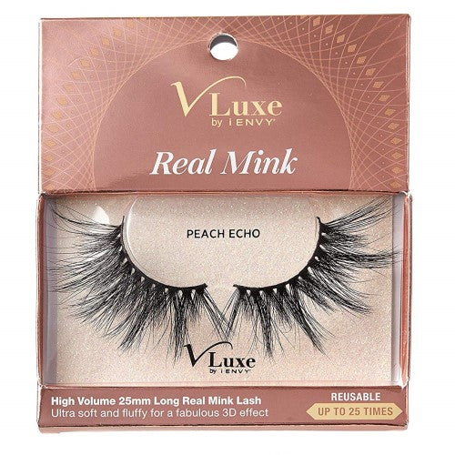 V-Luxe I Envy - VLEC05 Peach Echo - 100% Virgin Remy Real Mink Lashes By Kiss - Waba Hair and Beauty Supply