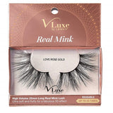 V-Luxe I Envy - VLEC06 Love Rose Gold - 100% Virgin Remy Real Mink Lashes By Kiss - Waba Hair and Beauty Supply