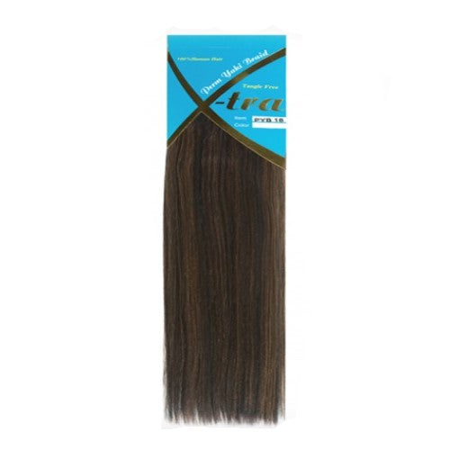 "Perm Yaki - Xtra 10""-18"" Human Weave Hair Blend Extensions By La Nova - Waba Hair and Beauty Supply"