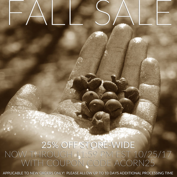 (OFFER ENDED) This week, 25% OFF STORE-WIDE with coupon code ACORN25
