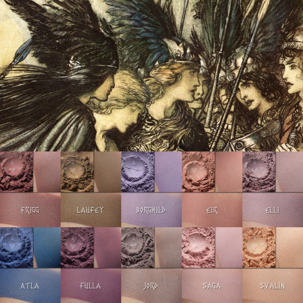 Matte Saga Two: Matte Eyeshadows inspired by women of Norse Mythology... now available!