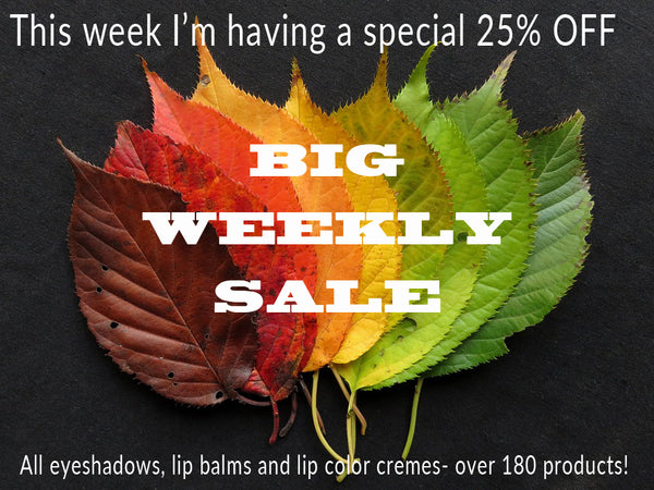(OFFER ENDED) It's a BIG weekly sale this week- over 185 eyeshadows, highlighters, contour powders, lip balms, color creams and more!