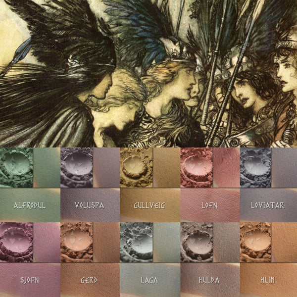 Matte Saga 4- Making for FORTY matte shades inspired by women of Norse mythology!