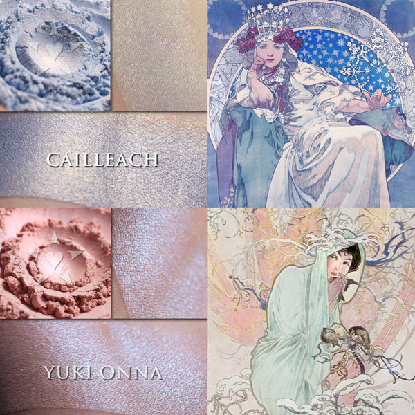 December + January's Goddesses: Cailleach and Yuki Onna