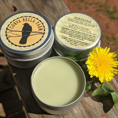 BEL FIORE (BEAUTIFUL FLOWER) SKIN BALM ( 1 Oz Tin) BY CORVA BELLA FARM