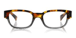 Bossy (Style 2418) Readers in Tortoise & Black Variegated Front with Tortoise Temples (Color 74)