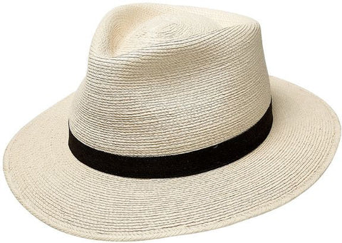 "2.5"" Brim Fine Palm Tear Drop Fedora"