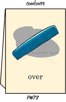 "Blank Greeting Card - ""Comb Over"""