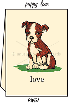 "Blank Greeting Card - ""Puppy Love"""