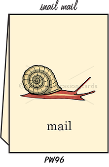 "Blank Greeting Card - ""Snail Mail"""
