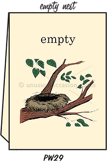 "Blank Greeting Card - ""Empty Nest"""