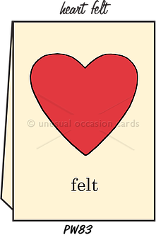 "Blank Greeting Card - ""Heart Felt"""