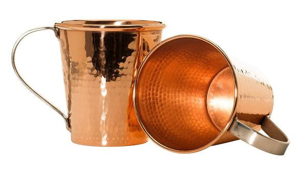 Sertodo 18 oz. Hammered Copper Moscow Mule Mug
