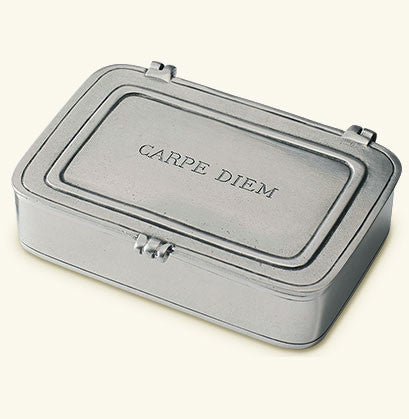 "MATCH Pewter ""Carpe Diem"" Lidded Box"