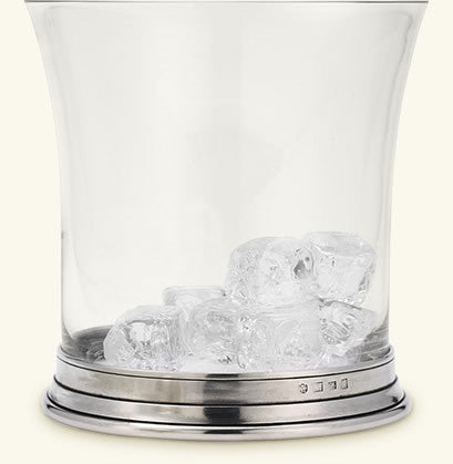 MATCH Pewter Crystal Ice Bucket