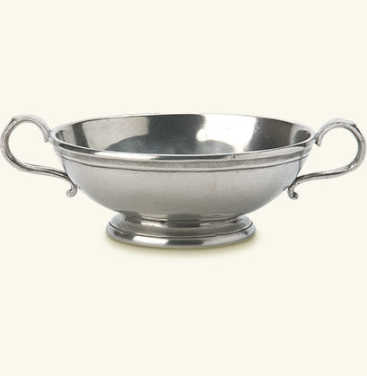 MATCH Pewter - Low Footed Bowl with Handles, Small.