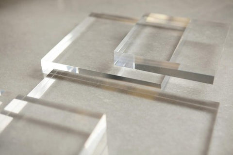 Clear Lucite Gallery Blocks