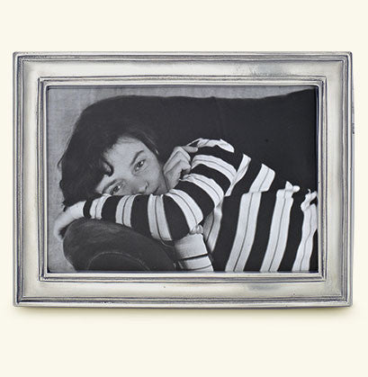 "MATCH Pewter - Lugano Rectangular Frame, 4x6""."