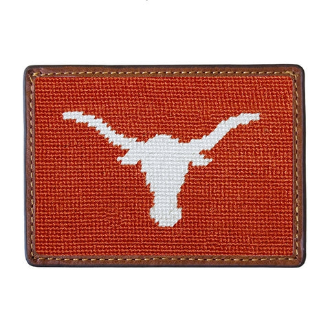Texas (Burnt Orange) Needlepoint Card Wallet