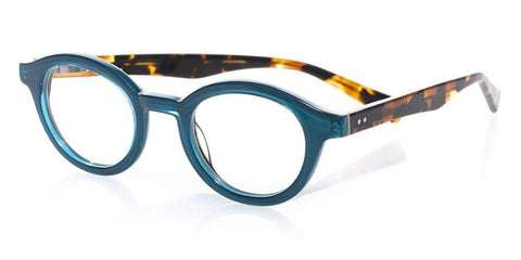 Soft Kitty (Style 2885) Readers in Tortoise Front with Teal and Brown Tortoise Temples (59)