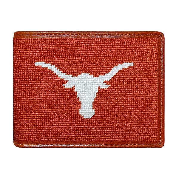 Texas (Burnt Orange) Needlepoint Bifold Wallet