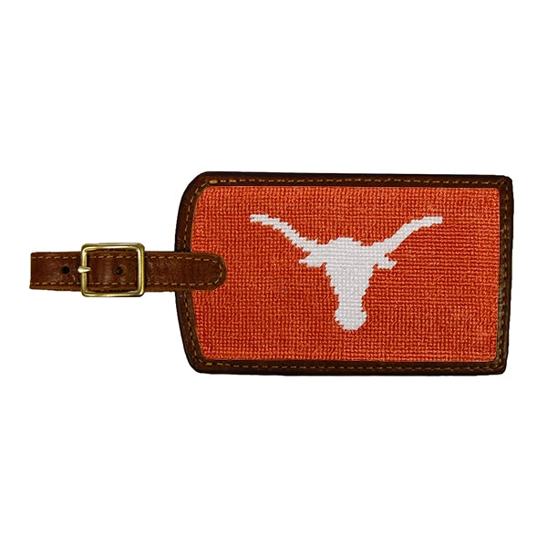 Texas Needlepoint Luggage Tag
