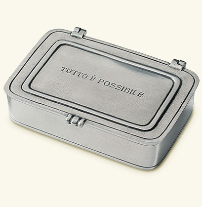 "MATCH Pewter ""Tutto è Possibile"" Lidded Box"