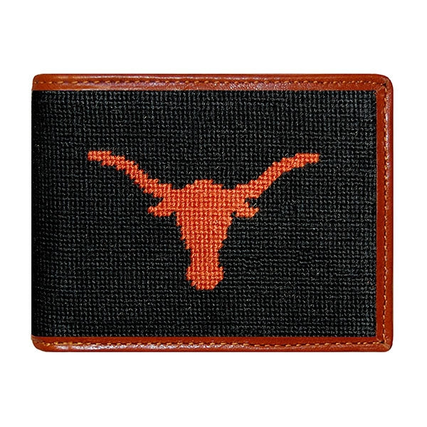 Texas (Black) Needlepoint Bifold Wallet