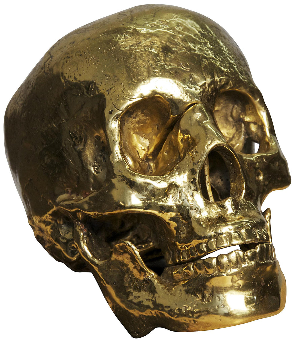"""My Grandfather"" Brass Skull Sculpture"